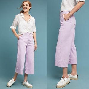 Pilcro Ultra High-Rise Wide-Leg Jeans Lilac